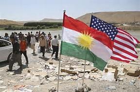 Kurdish american flag